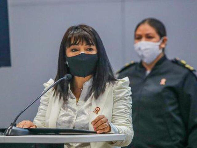 """Mirtha Vásquez: """"Adoptaremos acciones necesarias para evitar el quiebre del Estado de derecho"""""""