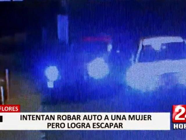 Miraflores: mujer escapó de peligrosos delincuentes que intentaron robar su auto