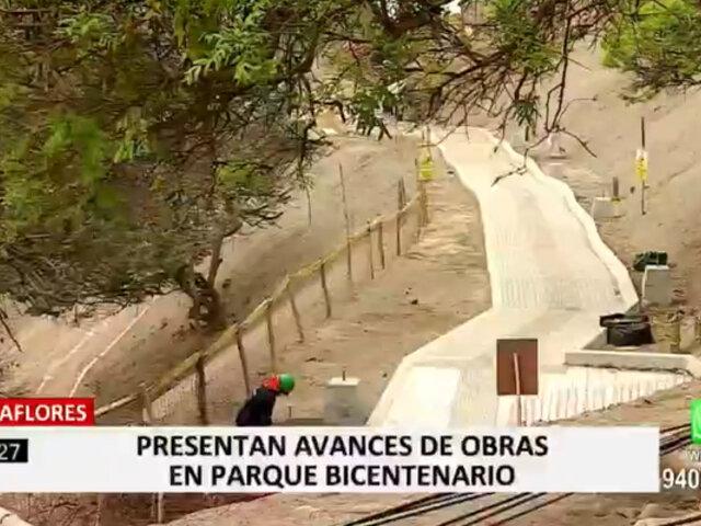 Alcalde de Miraflores presentó los avances de obras en el Parque Bicentenario