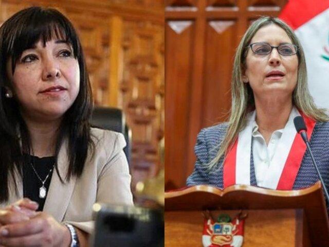 Mirtha Vásquez se reunirá con la presidenta del Congreso este viernes 15 de octubre