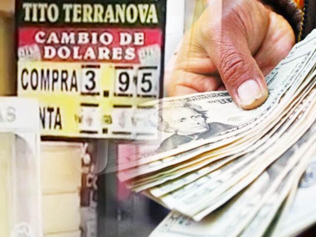 En Tumbes, precio del dólar baja hasta S/. 3.95