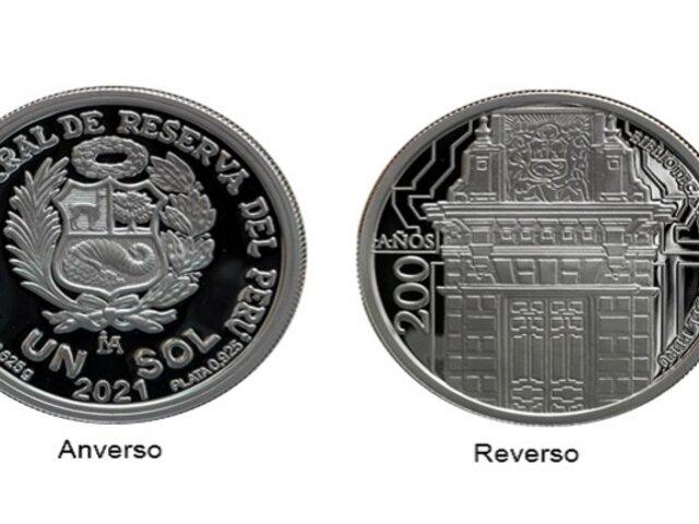 BCR lanza nueva moneda de S/1 alusiva al bicentenario de la Biblioteca Nacional del Perú