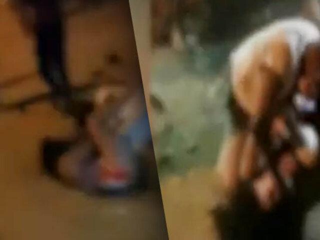 Dos menores se agarran a golpes en calle de Tumbes