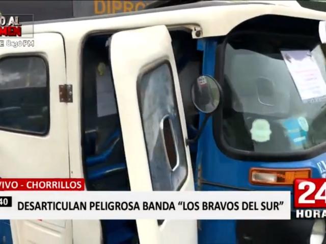 'Los bravos del Sur': cae banda que robó mototaxi y extorsionó a dueños