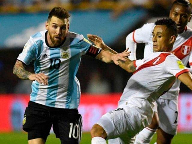 Perú pierde 1-0 ante Argentina en el Estadio Monumental por la fecha 12 de Eliminatorias