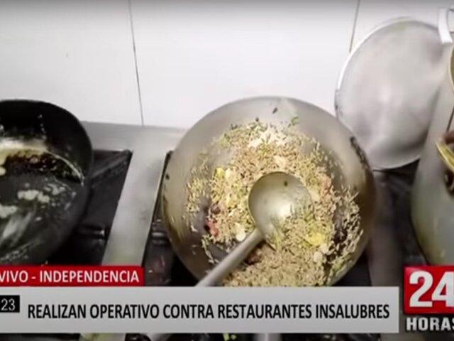 Independencia: realizan operativo contra restaurantes insalubres