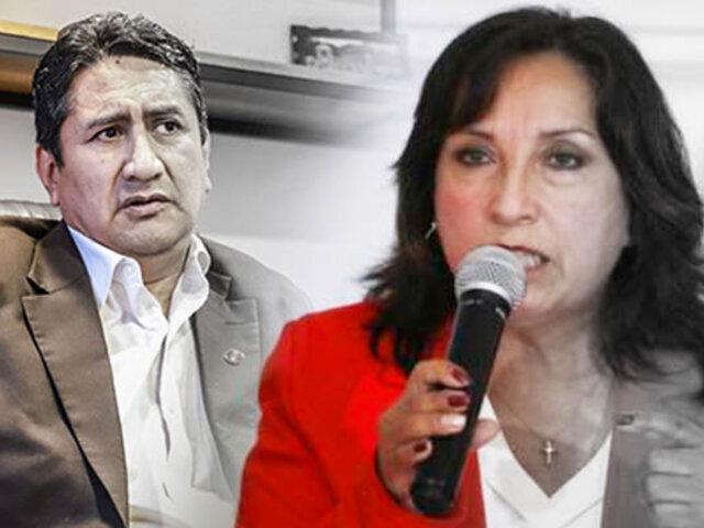 """Dina Boluarte sobre comunicado de Perú Libre: """"No nos vamos a salir de la línea"""""""