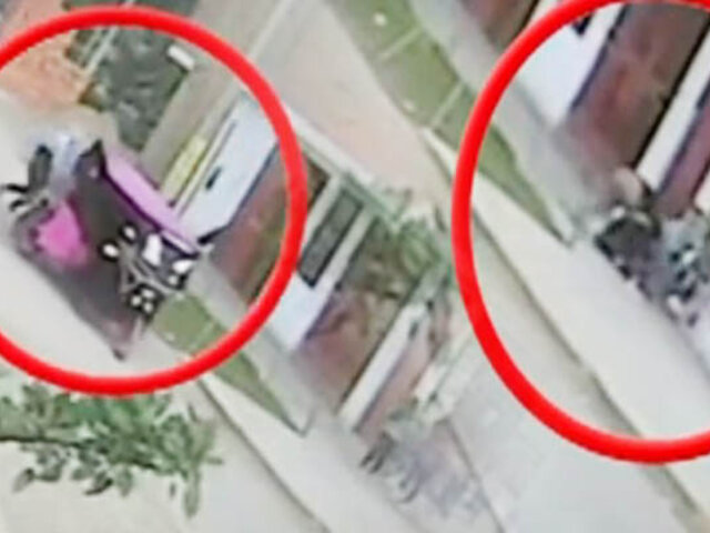 Sujetos asaltan a dos niñas en calle de Comas