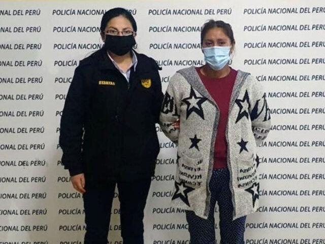 Capturan mujer acusada de envenenar a sus dos menores hijos en Huancayo