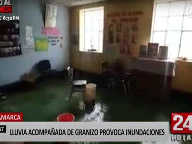 Cajamarca: lluvia acompañada de granizo provoca inundaciones