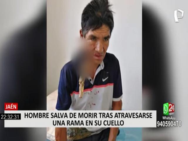 Jaén: hombre salva de morir tras ser atravesado por una rama