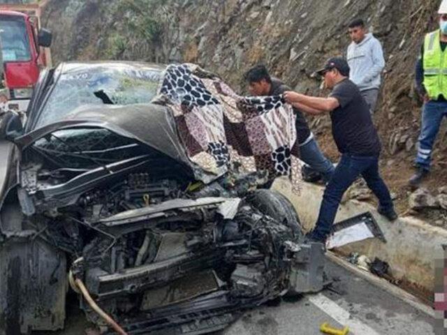 La Libertad: choque entre auto y volquete deja un muerto y cuatro heridos de consideración
