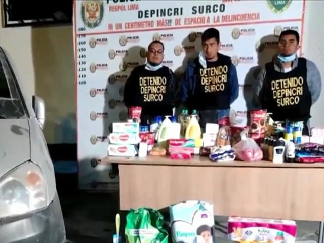 Surco: Escuadrón Verde capturó a delincuentes que robaban negocios en el Sur de Lima