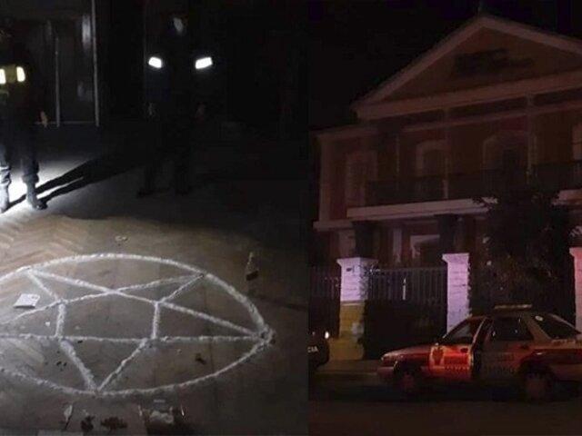 ¡De terror!: intervienen a sujeto que pretendía hacer rito satánico en casona abandonada