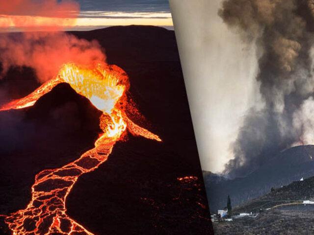 Volcán de La Palma emite gigantescas nubes de cenizas y produce decenas de sismos