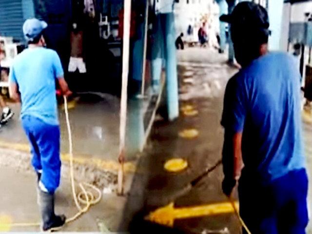 Tumbes: desinfectan mercados para prevenir aumento de contagios con variante delta