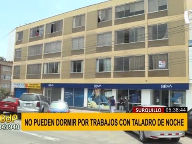 Surquillo: denuncian ruidos molestos por trabajos en la madrugada en entidad bancaria
