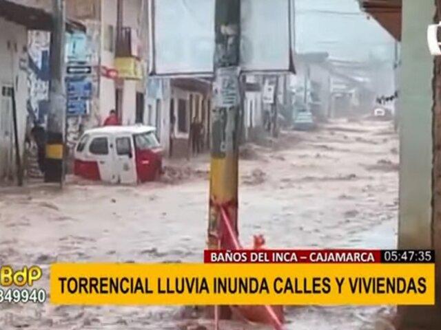 Calles se inundan en Cajamarca: al menos 300 viviendas afectadas por torrencial lluvia