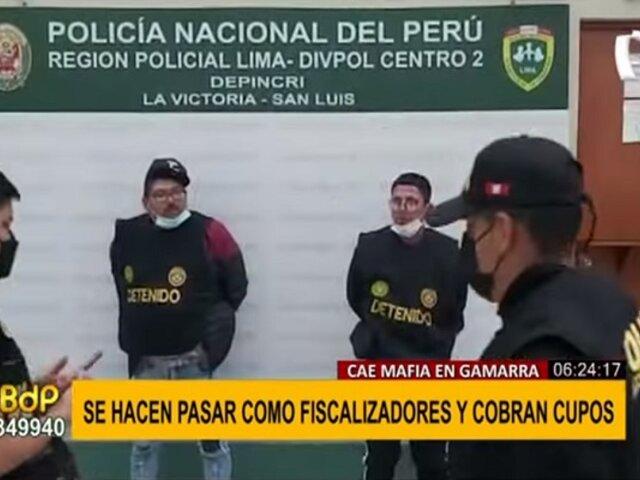 """""""Los apretones de Gamarra"""": sujetos se hacían pasar como fiscalizadores para cobrar cupos"""