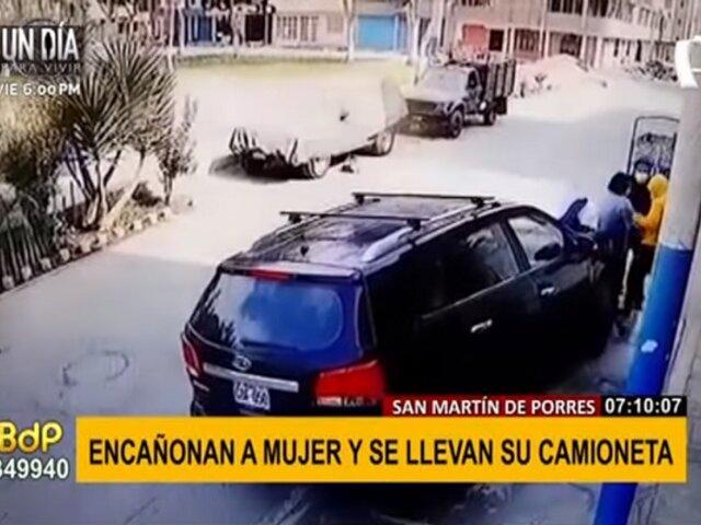 SMP: roban a punta de pistola a mujer y se llevan su camioneta