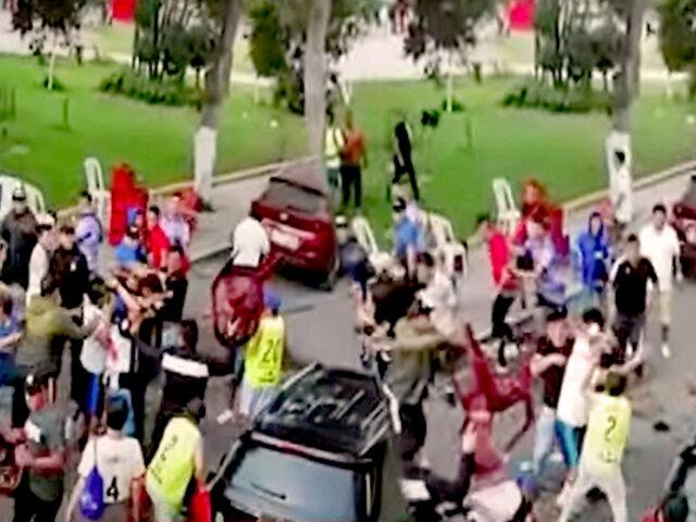 SMP: cancha deportiva se convierte en campo de peleas callejeras