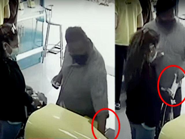 Callao: pareja roba laptop de conocida tienda de celulares