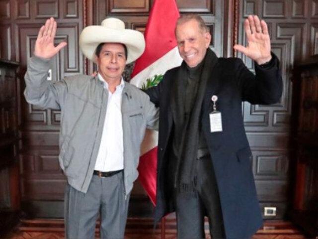 Pedro Castillo: Ricardo Belmont se suma al equipo como asesor del Despacho Presidencial