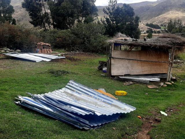 Áncash: fuertes vientos causan severos daños en techos de varias viviendas