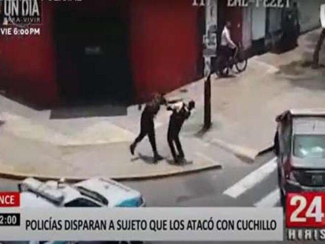 Lince: policías disparan a sujeto que los atacó con cuchillo