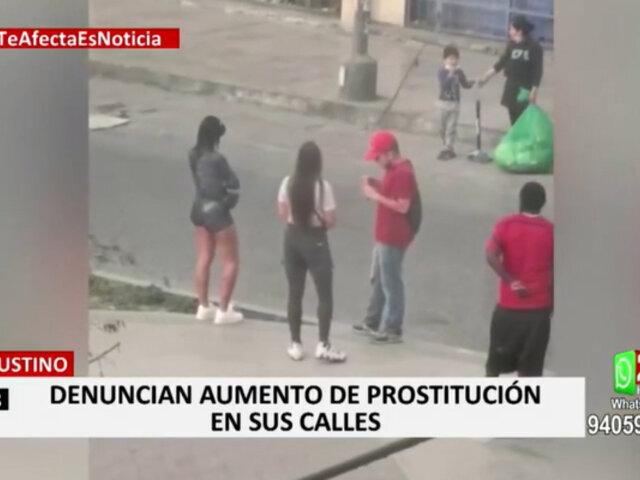 El Agustino: vecinos denuncian que meretrices se adueñaron de parque