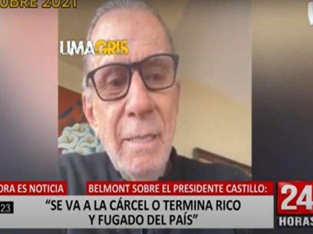El día que Ricardo Belmont criticó duramente a la Premier Mirtha Vásquez y al presidente Castillo