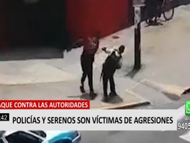 Policías y Serenos son víctimas de agresiones