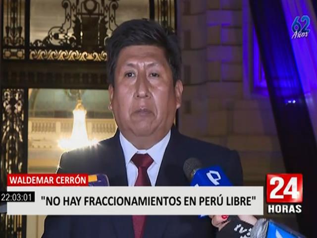 """Waldemar Cerrón sobre sobre bancada Perú Libre: """"No existe ningún prograccionamiento"""""""