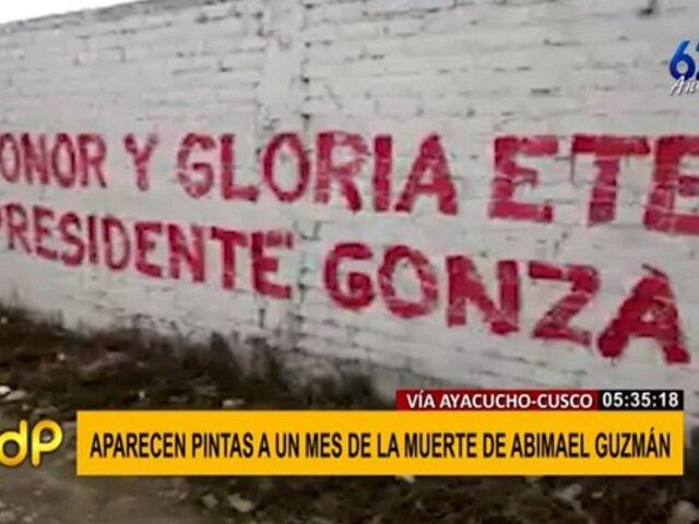 Ayacucho: aparecen pintas de Sendero Luminoso a un mes de muerte de Abimael Guzmán