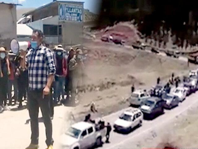 Apurímac: pobladores bloquean corredor minero y exigen atender acuerdos y compromisos