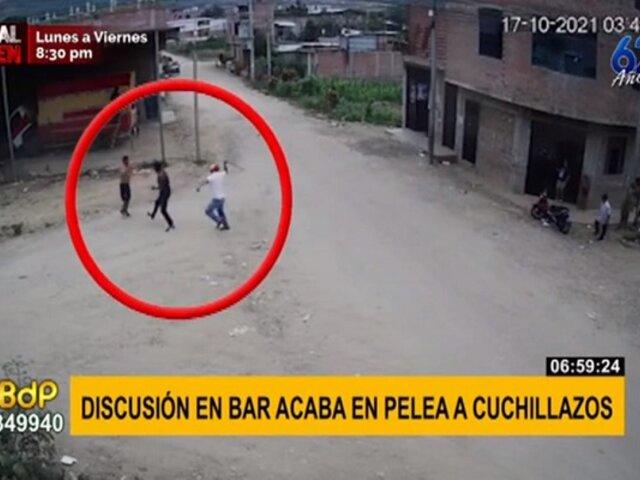 Sujetos se pelean a cuchillazos tras discusión en bar clandestino en Jaén