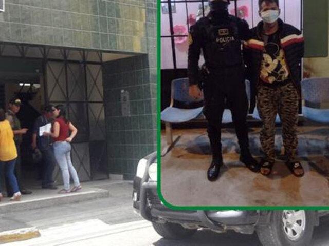 Chiclayo: intervienen hombre que golpeó e intentó arrojar a su esposa de tercer piso