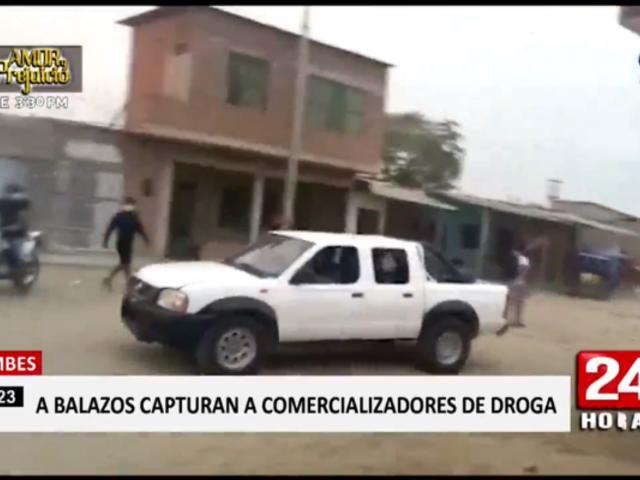 Tumbes: policía interviene a balazos a comercializadores de droga