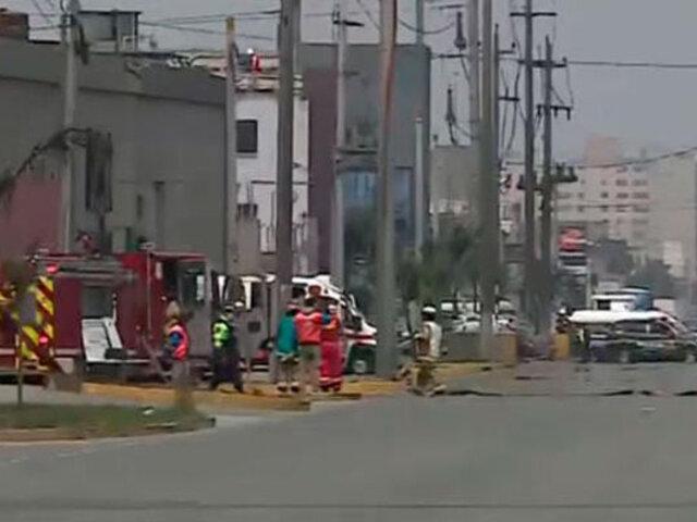 Cercado de Lima: evacuan a trabajadores y comerciantes por fuga de gas natural