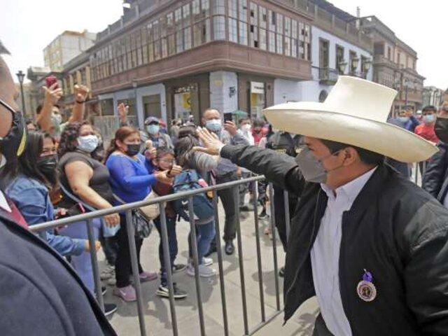 Pedro Castillo: El Perú grita en la calle que es necesario hacer grandes reformas constitucionales