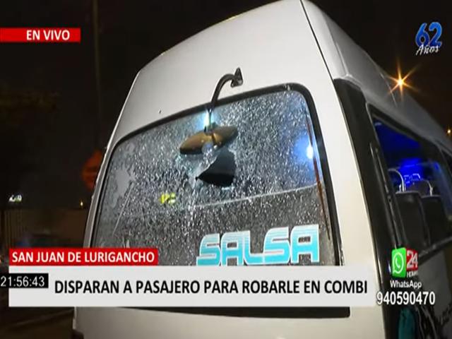 SJL: 3 pasajeros resultaron heridos tras asalto en combi
