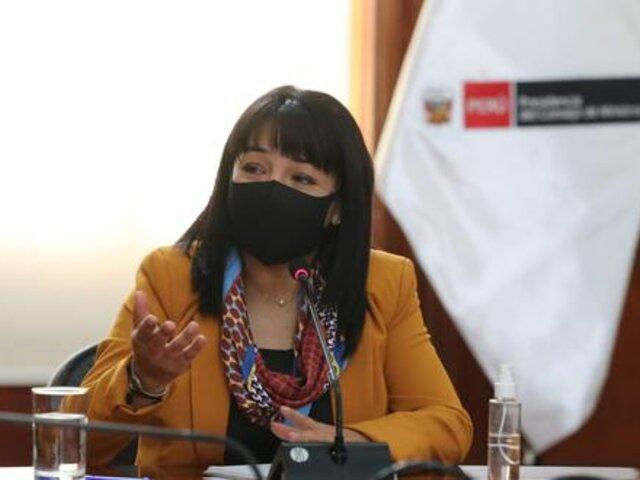 Premier Mirtha Vásquez sostendrá reuniones con tres bancadas este miércoles 20 de octubre