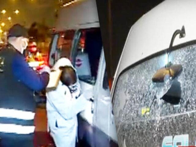 SJL: Policía continúa búsqueda de delincuente que desató balacera en una combi