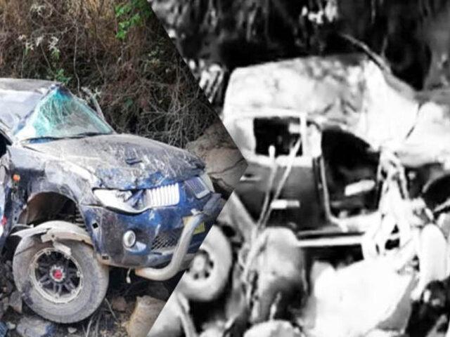 Despiste de camioneta en Huanta deja un muerto y dos heridos