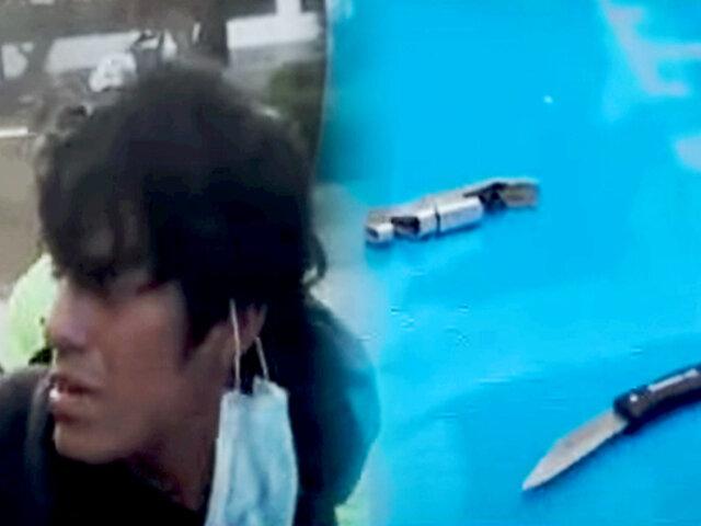 Surco: delincuente usaba cuchillo para amenazar a sus víctimas