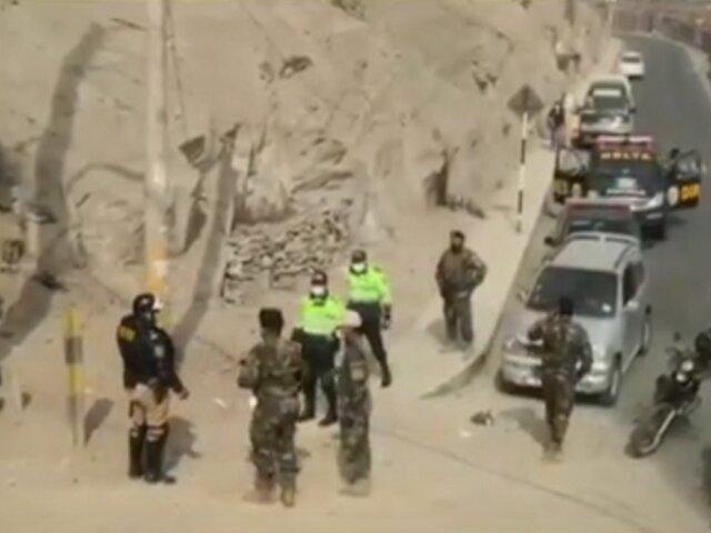 Ate: hallan 44 granadas de guerra en descampado cerca de la Carretera Central