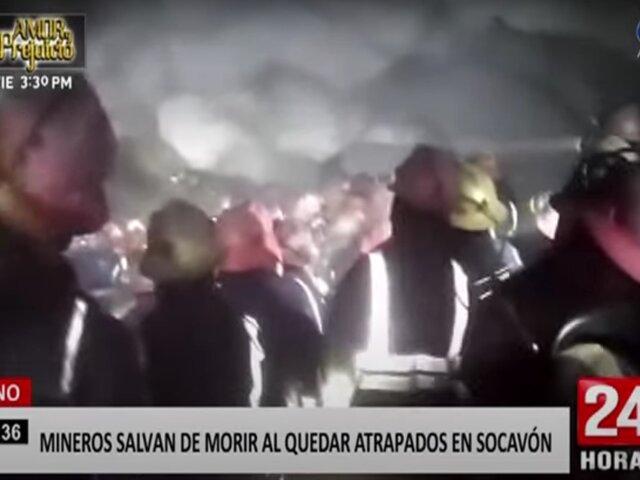 Puno: mineros quedan atrapados en socavón