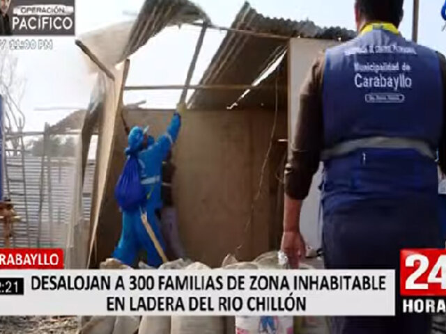 Familias desalojadas de laderas de río Chillón aseguran ser propietarios, pero procurador los desmiente