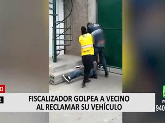Surco: fiscalizador a propietario de vehículo que estaba en el depósito