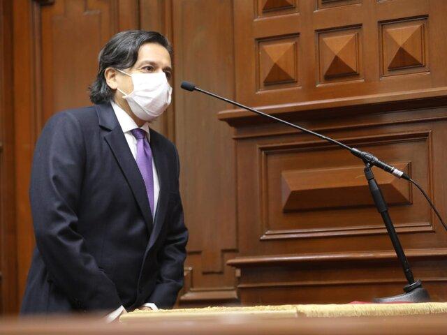 Edward Málaga afirmó que Partido Morado espera cambios en el gabinete Vásquez antes de pedido del voto de confianza
